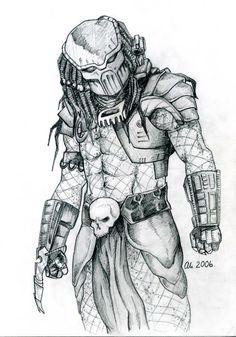 Predator. My Pencil drawing. 2006