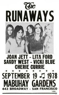 The RUNAWAYS...9/19/78 CONCERT