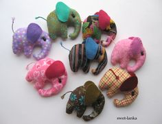 "Creative Workshop Shmelyoff Svetlana .: Master Class ""Pocket elephant."" I have fallen in love with these little elephants. ♥"