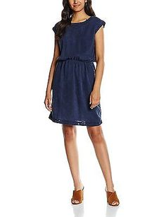 12, Blue - Blau (NAVY 400), ESPRIT Women's 066ee1e001-Tapered Dress NEW