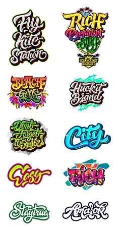 Logos / Prints part 3 on Behance – Graffiti World Graffiti Drawing, Graffiti Alphabet, Graffiti Lettering, Typography Letters, Typography Logo, Graffiti Words, Lettering Styles, Brush Lettering, Lettering Design