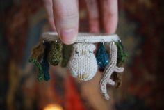 "Tiny Owl Knits, ""Care of Magical Creatures"" bracelet."
