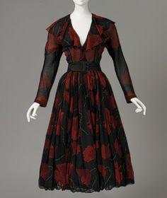 Robe de cocktail en soie et daim, Printemps-Eté 1948, don Mrs. John Chambers Hughes, 1958 - Metropolitan Museum of Art, New York