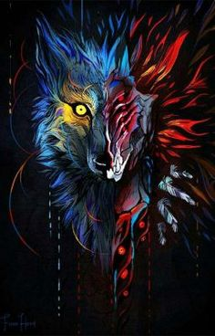 beautiful animal art Awesome is part of Best Awesome Animal Art Images Drawings Paintings - Face Your Demons by FionaHsieh Dark Fantasy Art, Fantasy Wolf, Dark Art, Anime Wolf, Artwork Lobo, Wolf Artwork, Wolf Wallpaper, Animal Wallpaper, Graffiti Art