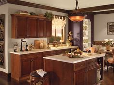 Tuscan Kitchen Design Ideas, Pictures, Remodel and Decor---crown molding.....