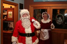 Well hello there, Santa and Mrs. Claus! Some innkeepers are really into roll playing. Iris Inn Bed & Breakfast, Waynesboro, VA