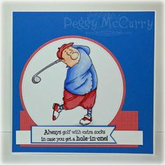 Art Impressions Gordon Golfer Ai People.  Handmade sports masculine golf card.  Great for Father's Day or birthday.