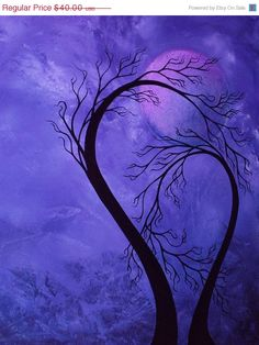 """PURPLE moon; """"When Everything is Calm"""" by Jaime Best"""
