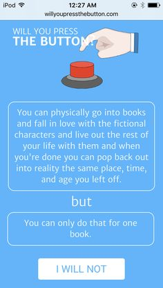 Funny Quotes, Funny Memes, Hilarious, Jokes, Button Game, Red Button, Press The Button, Book Memes, Book Fandoms