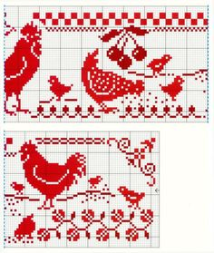 Cross-stitch Roosters & Chickens, part 2...    Gallery.ru / Фото #4 - 234 - Yra3raza