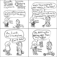 I drew a spring comic strip for @dashingdate the company providing my speeddating! (The owner asked if I could write the text a bit neater but instead of re-drawing it I decided to draw a whole new 2nd cartoon that I felt would match her optimistic sensibilities even more. I aim to please. And she did love the 2nd drawing! For a special discount  on matchingmaking, mention Celebrity Josh sent you. Funny Comic Strips, Meet Women, Do Love, Funny Comics, Texts, Illustrator, My Life, Celebrity, Draw