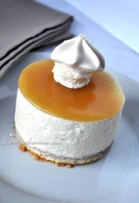 Bavarois façon cheesecake sans cuisson aux poires Cheesecakes, I Love Food, Panna Cotta, Pudding, Sweets, Fruit, Cooking, Ethnic Recipes, Messages