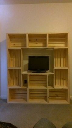 Made out of crates from Michaels for my teen sons room. Teen Boy Rooms, Teen Boys, Kids Bedroom, Bedroom Decor, Bedroom Ideas, Crate Furniture, Furniture Dolly, New Room, Home Projects