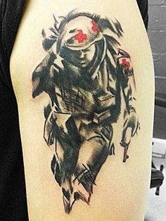 Ed Sheffer, Tattoo Artist at Diversified Ink in Bangor, Maine Left Arm Tattoos, Pin Up Tattoos, Flower Tattoos, Unique Tattoos, Small Tattoos, Navy Corpsman, Air Force Gifts, Patriotic Tattoos, Model Ship Building