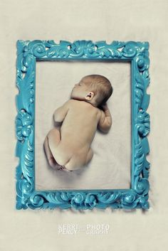 Kerri Percy Photography #newborn #photography #frame Instead, mama holding it, posing with it, shoot baby through it