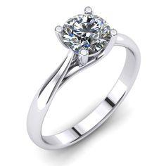 1.35 Carat H/SI2 Round Cut Diamond Engagement Ring in 14K White Gold #MyDiamonds…