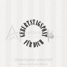Ministempel - Geburtstagspost 02 | ø 3,0 cm