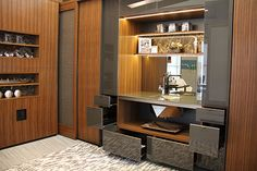 Hideaway galley kitchen from Inter-Arc Solutions.  http://www.knsales.com
