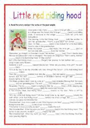 Revising Past Simple Little Red Riding Hood Esl Worksheet By