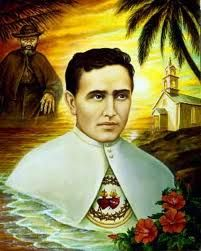 Feast of St. Damien of Molokai.  St. Damien worked in the leprosy colonies in Hawaii, serving their physical, medical, and spiritual needs with compassion.