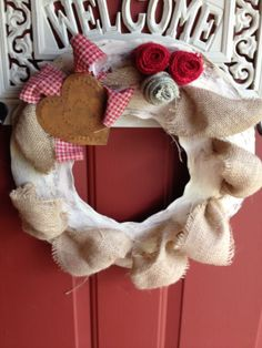 How to make this wreath for $1 at rusticredneckdesigns.com!
