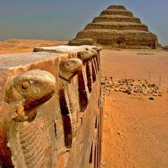 step pyramid in saqqara egypt. uraeus symbol cobra serpent snake sovereignty royalty deity divine pharaohs imhotep egyptian masonic bookofthedead