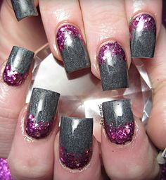 Gray and purple are a nice touch but the glitter makes it pop!!