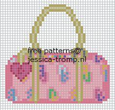 tassen borduurpatronen handbag cross stitch patterns designs