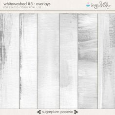 Whitewashed #5 : Overlays by Sugarplum Paperie