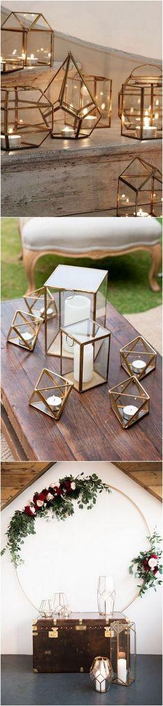chic geometric lantern wedding decoration ideas #weddingdecor #weddinglights #weddinglanterns #lanterndecorations #weddingideas