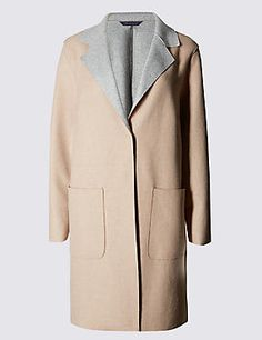 PLUS Double Face Coat with Wool