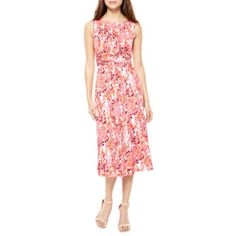 d1c9046f3 FREE SHIPPING AVAILABLE! Buy Perceptions Sleeveless Floral Fit and Flare Dress  at JCPenney.com