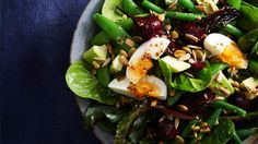 Beetroot and eggs are the unlikely heroes of this gorgeous spring salad from the @ninemsn Australia's home online group #MeatfreeMonday