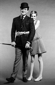 Steed meets Twiggy. 1966