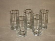 SET OF 5 ANCHOR HOCKING ESSEX CLEAR 16 OZ. TUMBLERS 210118
