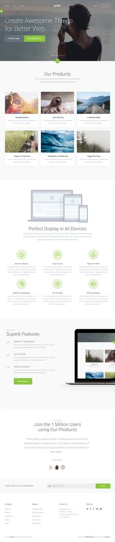 Guide – Free HTML Template: http://graphicburger.com/preview/html-templates/guide/index.html