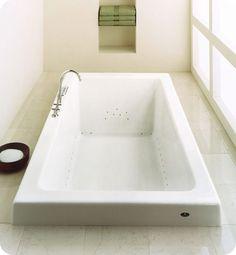 "Neptune Zen 72"" x 32"" Customizable Rectangular Bathroom Tub"