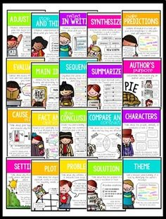 Reading Comprehension Strategies and Skills Poster Set Reading Lessons, Reading Skills, Teaching Reading, Primary Teaching, Guided Reading, Teaching Ideas, Reading Comprehension Posters, Reading Strategies Posters, Literacy Strategies