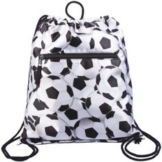 Drawstring Backpack White Soccer Ball « Clothing Impulse.