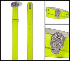 Express your rock attitude with this amazing belt enriched with a sparkling skull as a buckle. #PhilippPlein  http://www.boudifashion.com/new-in-designer-fashion/departments/womens-designer-clothes/philipp-plein-skullynicious-yellow-belt.html  #PhilippPlein #BoudiFashion #Designer #Shopping #Cool #Celebs #Belt #DesignerFashion #DesignerClothes #PhilippPleinCollection