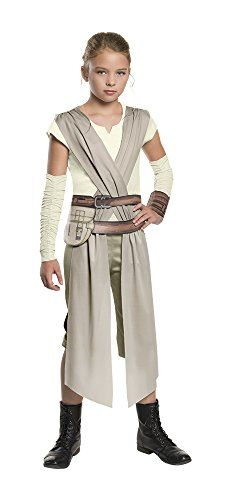 Kids' Costumes - Star Wars The Force Awakens Childs Rey Costume Medium -- Click image for more details.