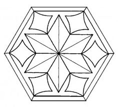 Stained Glass Snowflake Pattern