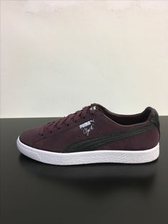 puma clyde select made in japan burgundy