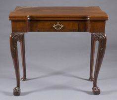 Attirant George III Flip Top Games Table. : Lot 2. Late 18th Century