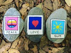 Posca painted stones