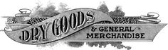 Today I'm sharing this awesomeAntique Dry Goods Trade Sign Image! Featured above is an old Typography Sample for a House and Dry Goods and General Store. The sample is from a rare early 1900's Printer's book! Such a fancy looking piece, I think it would make a cute decorative sign!