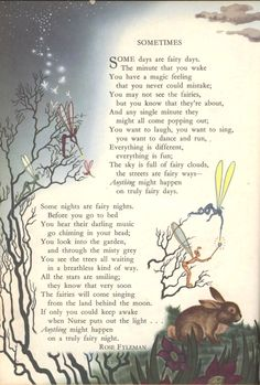 Some days are fairy days... From 1949 edition Childcraft books.