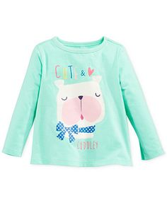 First Impressions Baby Girls' Cuddly Dog Long Sleeve Top