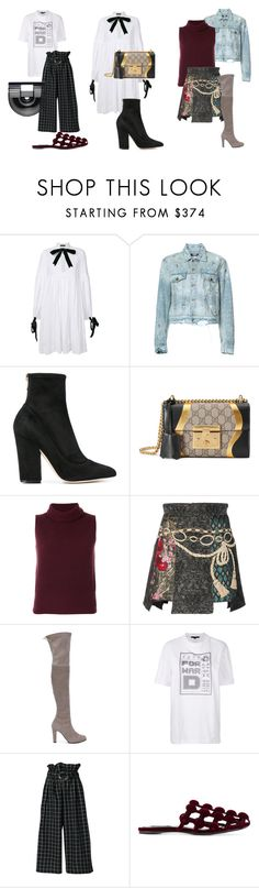 """""""New in this week"""" by farfetch ❤ liked on Polyvore featuring Alistair James, AMIRI, Sergio Rossi, Gucci, Theory, Dolce&Gabbana, Stuart Weitzman, Alexander Wang, Rejina Pyo and Cult Gaia"""