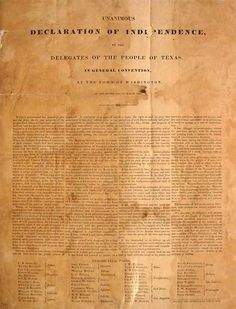 Texas Declaration of Independence ~ Texas is the only state that was ever a sovereign nation.  That's why the Texas flag is the only state flag which can fly at the same height as the US Flag!